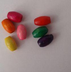 Doğal ahşap boncuklar oval 10x6 mm