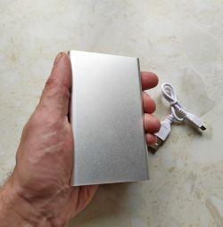 Case for Power Bank aluminum, metallic color