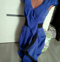 Шикарное замша платье 40&42