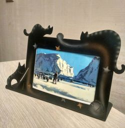 Steel frame photo frame