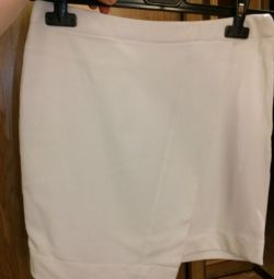 Skirt white short