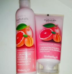 Body scrub - body lotion