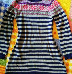 Πλεκτό φόρεμα για κορίτσι
