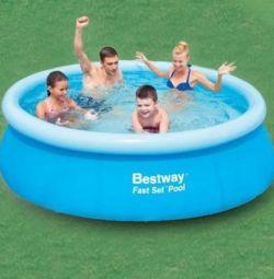Round inflatable pool, 244x66 cm, 2300 l