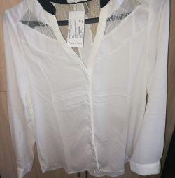 Нова Блузка біла і чорна 48р
