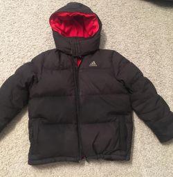 Down jacketAdidas + pants + hat