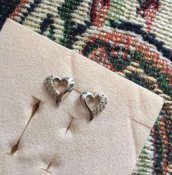 Σκουλαρίκια από λευκόχρυσο