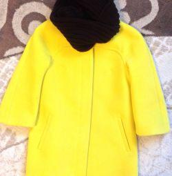 Пальто з снуд розмір 42