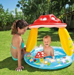 Children's pool Mushroom, inflatable bottom 102x89 cm 57114