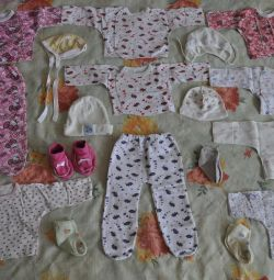 A large package of clothes for girls 56-62-68