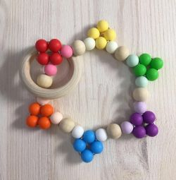 Silicone and wood bracelets