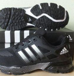Кроссовки Adidas marathon TR10 flyknit blue