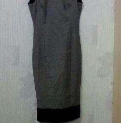 Платье -сарафан теплое