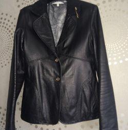 Кожаный пиджак Ferre, б/у