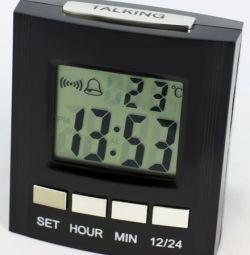 Vorbind cu ceas cu temperatură și lumină de fundal