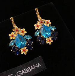 Dolce & Gabbana Kristal Küpe