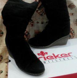 Зимові, замшеві чоботи rieker