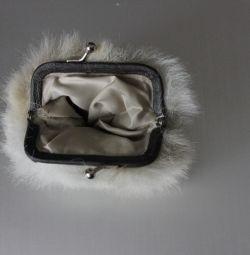 Women's fur wallet Barts