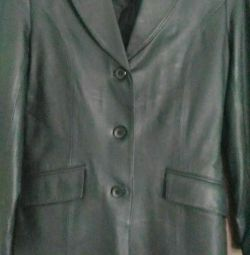 Jacket leather, new