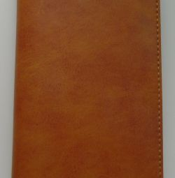 Чохол-портмоне для смартфона шкіряний коричневий ун