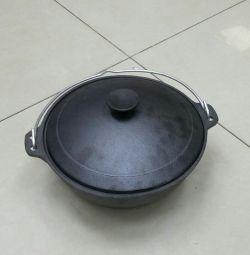 Kazan 4L. New. Cast iron.
