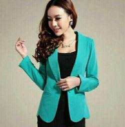 Jacket female turquoise, new
