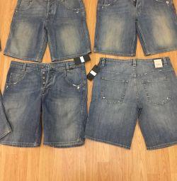Шорты новые джинсовые мужские