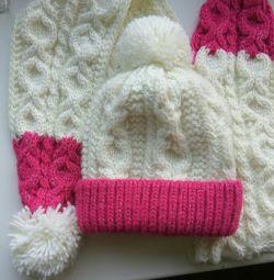 Children's hat + scarf