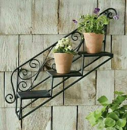 Wrought iron wall florists