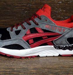Αθλητικά παπούτσια Asics Gel Lyte V μπλε με κόκκινο