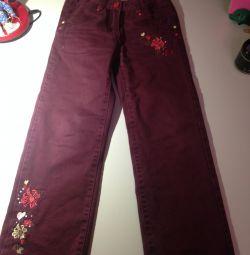 Pantaloni calde pentru fete Playtoday, înălțime 122