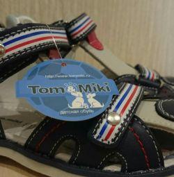 Sandaletler Yeni, önleme, hakiki deri