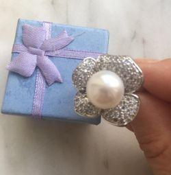 Δαχτυλίδι γυναικών με μαργαριτάρια 18 μεγέθους