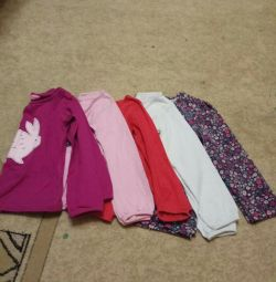 T-shirts for girls, 86-98cm