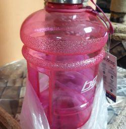 2.2 2.2 litri de sticlă de apă. Nou.