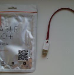 Cablu USB roșu (masculin) - Lightning (Male) pentru A