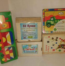 Νέα συσκευασία ξύλινων παιχνιδιών