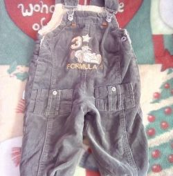 Overalls for a boy (warm)