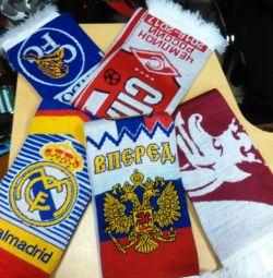 Football scarves.