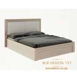 Gladys M32 bed 1.6 s rise. fur. and soft part (ash shimo light / white)