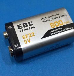 Μπαταρία μπαταρίας 9v λιθίου