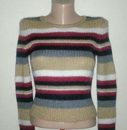 Μάλλινο πουλόβερ με κοντό μανίκι