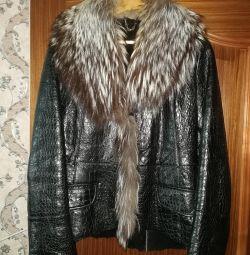 Jacheta din piele de oaie