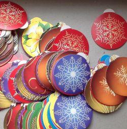 Прикраса новорічне кулі (нові) Новий рік