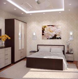 κρεβάτι φιέστα με στρώμα 1.6