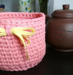 Interior basket, basket of yarn