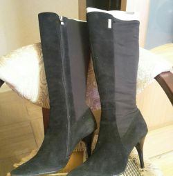 Boots suede-stretch, р.38