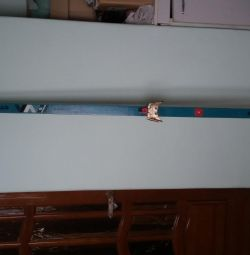 Cross-country skiing 210 cm vintage and sticks