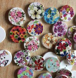 Buttons Floral Mix
