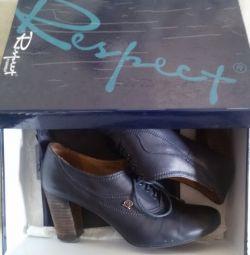 Οι μπότες είναι μπλε, γνήσιο δέρμα, r-37